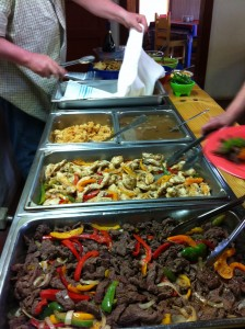 Our fajita brunch. Yummy.