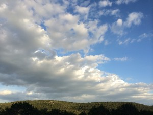 Lovely skies above Kerrville.
