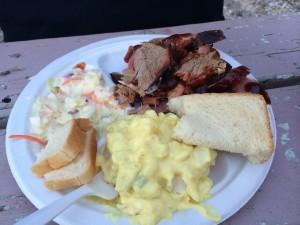 Steve's Dinner: Barbecue Plate
