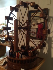 All wood carousel at Kerr Arts & Cultural Center