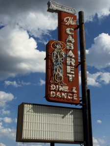 I just love these cool old signs.