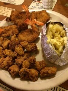 My Dinner: Fried Oyster & Shrimp Plate