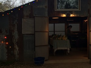 Boggy Creek Farm Stand on a chilly, damp morning.