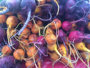 Rainbow of beets. JBG.