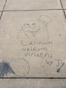 A little sidewalk art.