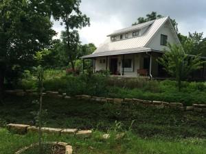 The farm house.