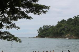 The beach at Manuel Antonio. Also known as beach #1