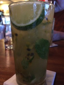 My Passionfruit Mojito. Meh.