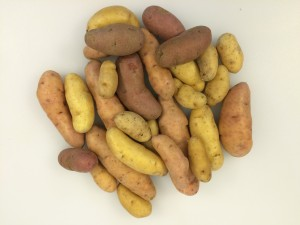 I chose to use fingerling potatoes this time around. You can use any type you prefer, however.